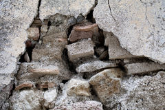 Crumbling Wall. Part of a house wall that needs attention Royalty Free Stock Images
