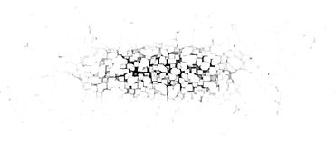 Crumbling wall abstract Royalty Free Stock Photos