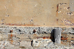 Crumbling wall Stock Photo