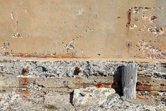 Crumbling wall Stock Photo