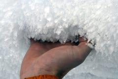 Crumbly śnieg dzwoniący nawierzchniowy hoar zdjęcie stock