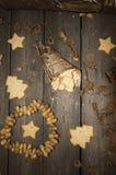 Crumbly домодельное печенье арахиса в винтажном стиле Стоковые Фото