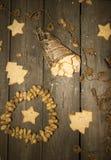 Crumbly домодельное печенье арахиса в винтажном стиле Стоковая Фотография RF