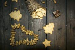 Crumbly домодельное печенье арахиса в винтажном стиле Стоковое фото RF