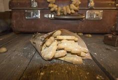Crumbly домодельное печенье арахиса в винтажном стиле Стоковое Изображение
