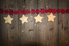 Crumbly домодельное печенье арахиса в винтажном стиле Стоковые Изображения RF