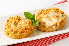 Crumbly cornmeal and almond cookies Stock Images