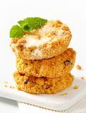 Crumbly cornmeal and almond cookies Royalty Free Stock Photography