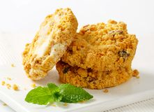 Crumbly cornmeal and almond cookies Stock Photography