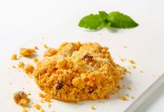 Crumbly cornmeal and almond cookies Stock Image
