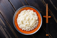 Crumbly rice in bowl Stock Photos