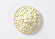Crumbly white cheese Royalty Free Stock Images
