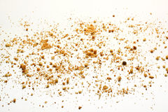 Crumbs στο άσπρο υπόβαθρο Στοκ φωτογραφίες με δικαίωμα ελεύθερης χρήσης