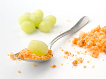 Crumbs with fresh grapes rural Spanish stew Stock Photography
