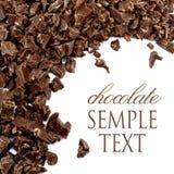 Crumbs van chocolade vector illustratie