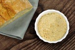 Crumbs van het brood - pangrattato stock afbeelding