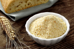 Crumbs van het brood - pangrattato royalty-vrije stock foto's