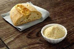 Crumbs van het brood - pangrattato Stock Foto