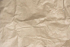 Crumled paper. A piece of crumpled wrapper paper Stock Image
