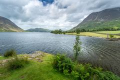 Crummock水,湖区英国看法  免版税库存图片