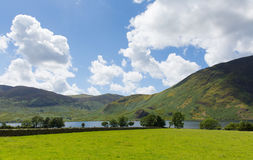 Crummock and mountains Lake District North West England UK between Buttermere and Loweswater Royalty Free Stock Image