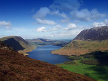 Crummock Water. Looking over Crummock Water to Grasmoor in the English Lake District stock photo