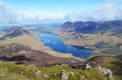 Crummock Water in Cumbria. Crummock water viewed from Red Pike in the Lake District National Park, Cumbria Royalty Free Stock Images