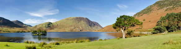 Crummock Water panorama Royalty Free Stock Photography