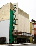 The Crump Theater. This is a Winter picture of the historic Crump Theater located in Columbus, Indiana in Bartholomew County. This theater original design was an stock image