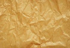Crumped hantverkpapper Fotografering för Bildbyråer
