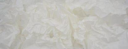 Crumped vit bakgrund för vaxpapper arkivfoto