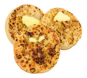 Crumpets с плавя маслом Стоковые Изображения RF