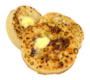 Crumpets With Melting Butter Royalty Free Stock Photo