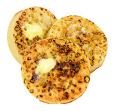 Crumpets With Melting Butter Stock Photo