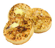 Crumpets With Melting Butter Stock Photography