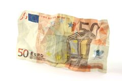 Crumple banknote Stock Photos