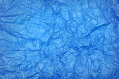 Crumple blue paper Stock Photography