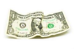 Crumple enrugou o dólar imagens de stock