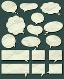 crumple  labels, vector Royalty Free Stock Image
