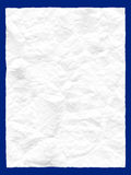 Crumple paper. Blank white crumple paper isolated stock image