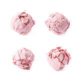 Crumple paper ball isolated Royalty Free Stock Images