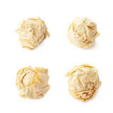 Crumple paper ball isolated Royalty Free Stock Photos