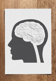 Crumple paper brain concept Royalty Free Stock Photo