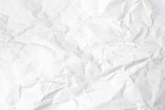 Crumple white paper Royalty Free Stock Image