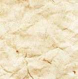 Crumpled aged paper texture Stock Image