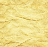 Crumpled aged paper texture Royalty Free Stock Photos