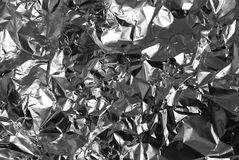 Crumpled aluminium foil royalty free stock photos