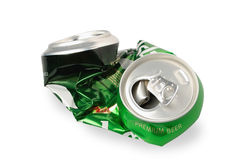 Crumpled Aluminum can Royalty Free Stock Photography
