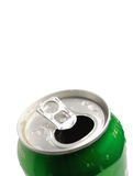 Crumpled Aluminum can isolated Royalty Free Stock Photos