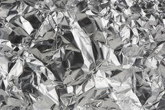 Crumpled Aluminum Foil as Background Stock Photo